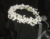 Reserved for Lori Balogh...3 Child's size and 1 Infant size Baby's Breath Headpiece-Halo-Head Wreath-Crown-Spring-Summer Wedding