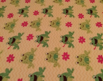 Frogs And Flowers Fleece Blanket