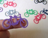 Tandem Bicycle Wedding Confetti Die Cut Bike For Two Scrapbook Card Making Party Decor