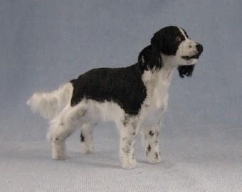 English Springer Spaniel Soft Sculpture Miniature Dog by Marie W. Evans