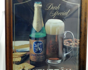 Lowenbrau beer Dark Special  Illuminated Wall Sign