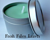 spring clearance Fresh Fallen Leaves soy candle travel tin . PNON GMO soy - .2oz