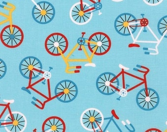 Bicycles in Retro (aak-15132-256) - READY SET GO by Anne Kelle - Robert Kaufman Fabric - By the Yard