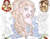 Adult Coloring Book - Pin Up Art Coloring Book - Coloring Book - Fantasy Art Coloring Book - Pin Up Girls - Coloring Pages