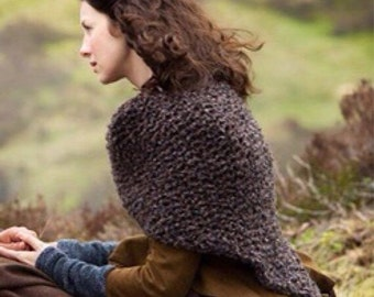Outlander Knitted Shawl Wrap Cape // The Sassenach