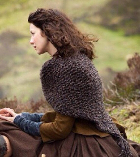 Knitting Pattern For Outlander Shawl : Outlander Knitted Shawl Wrap Cape // The Sassenach
