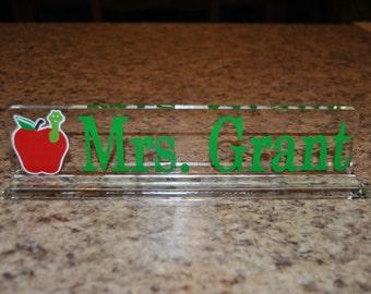 Personalized Acrylic Desk Nameplate, Custom Desk Nameplate, Personalized Desk Accessories, Acrylic Nameplate, Teacher Gift, Boss Gift, Sign