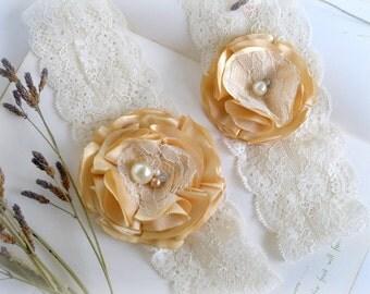 Wedding Garter / Garter Set / Satin & Lace