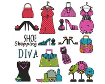 FASHION DIVA - Machine Embroidery - Instant Digital Download