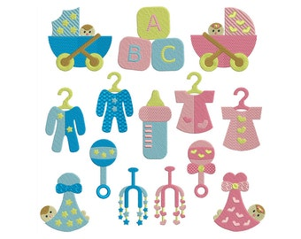 BABY BASICS - Machine Filled Embroidery - Instant Digital Download
