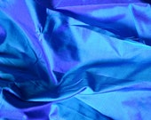 Silk Taffeta in  Blue with purple and teal shimmers - fat quarter - TF5