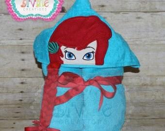 Mermaid Princess Hooded Bath Towel