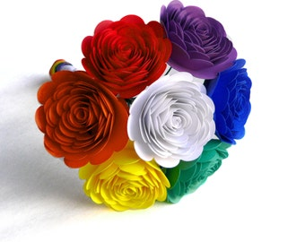 Rainbow Wedding Bouquet, Rainbow Bouquet, Alternative Bouquet, Creative Wedding Bouquet, Offbeat Wedding