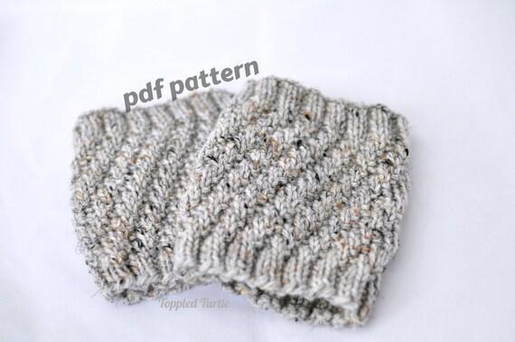 Pattern - The Twist Knit Boot Cuff Pattern | Knit Cuff Pattern | Knit Leg Warmer Pattern | Knit Boot Sock Pattern | Knit Pattern Boot Cuff