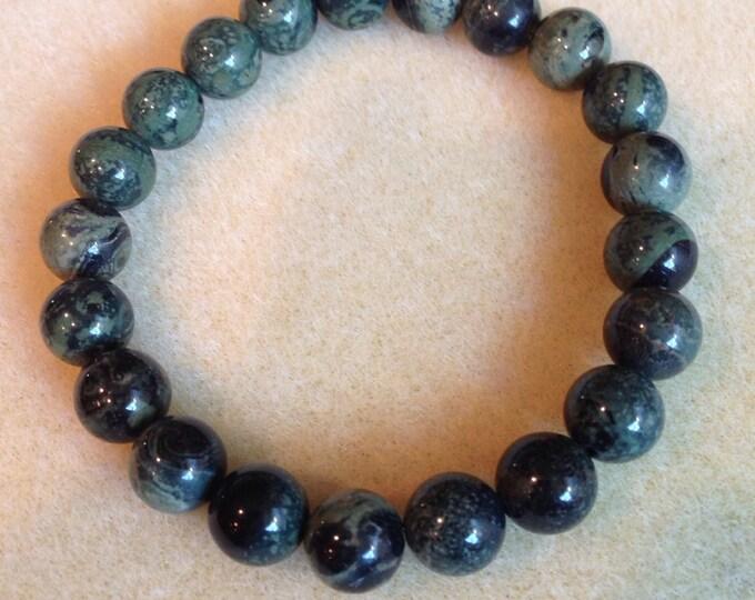 Kambaba Jasper 10mm Round Stretch Bead Bracelet