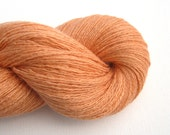 Lace Weight Silk Cashmere Recycled Yarn, Apricot, 820 yards, Lot 110315