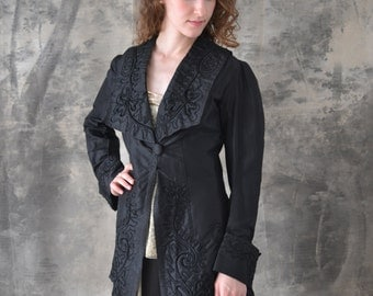1910s Black Satin Jacket