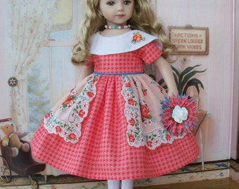 "PDF Sewing Pattern: DAHLIA GARDEN for 20"" Maru & Friends® and 18"" American Girl ® Dolls"
