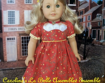 PDF Sewing Pattern for American Girl: Caroline's La Belle  Promenade Gown, Pantalettes & Chemisette