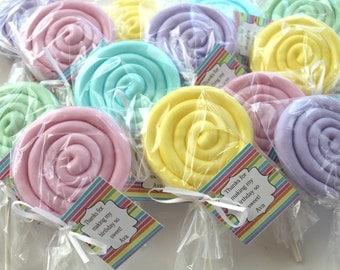 10 Lollipop Soap Party Favors