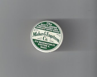 Mahar & Engstrom Co. Watch Parts Vintage Tin, 1970s (empty)