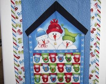 Christmas Advent Calendar - Snowmen and Mittens