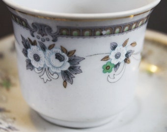 Vintage Chinese Espresso or Demitasse Cup and Saucer