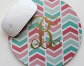 METALLIC ARROWS mousepad - with gold or silver foil monogram