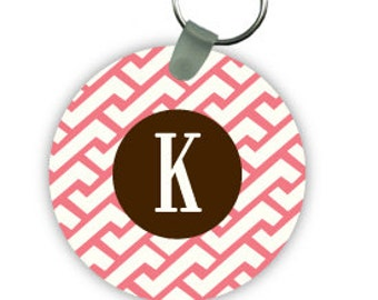 ZIG ZAG keychain with monogram