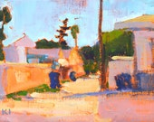 Alley in Ocean Beach, San Diego Painting