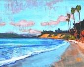 Butterfly Beach Palms- Santa Barbara Landscape Painting