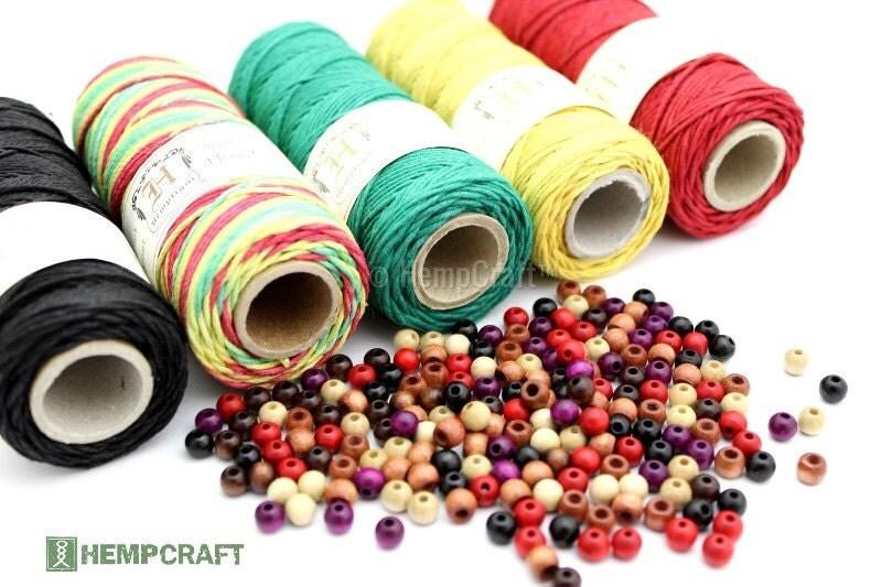 rasta hemp jewelry making supplies hemp cord and wood beads
