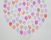 Nursery Decor / Balloon Bouquet / Nursery Wall Art / Nursery Art / Game Room Decor / Kids Wall Art / Baby Shower Gift / New Baby Gift /