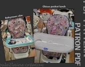 PDF patern DIY high chair cover / Patron et tuto pour housse chaise haute - Graco Tea Time