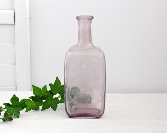 Antique Lavender Bottle, Cottage Collectible, Home Decor