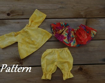 Pattern ~ Under Rainbows Clothing Patterns for Girl Dolls
