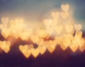 Love Art: Bright New Love Fine Art Photography Still life decor light heart bokeh lovers couple art print Still life Blue Gold