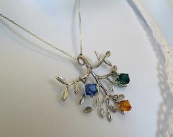CUSTOM Swarvoski Family Tree Necklace