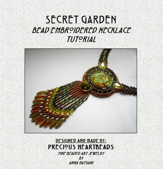 Bead embroidery necklace tutorial pdf swarovski green olivine