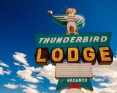 Thunderbird Lodge Neon Sign Print | Retro Home Decor