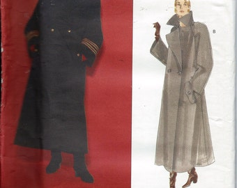 Vogue 1253 State Of Claude Montana Coat Sewing Pattern Size 8-10-12 UNCUT Winter Military Double Breasted