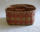 Paper Plate-Silverware Basket / Organizer Basket /  Basket with Dividers-Large