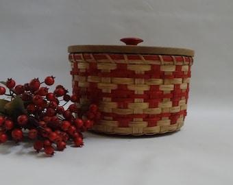 Storage Basket-Basket with a Lid-Paper Plate Basket-Fruit Basket-Handwoven Basket