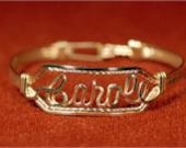 Custom Name Bracelet 14k Gold Fill wire