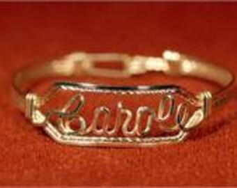 Name Bracelet 14k Gold Fill Wire