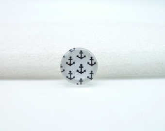 10pcs 12mm Handmade Photo Glass Cabochons(anchor) GB73-22