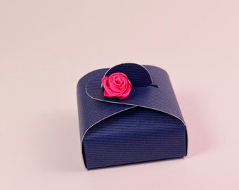 Navy Blue Wedding Favor Box- Perfect for dinner parties, weddings, bridesmaids gift box, party favor, ring case box,packaging