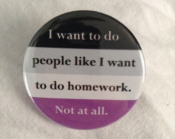 Funny Asexual Button/Magnet