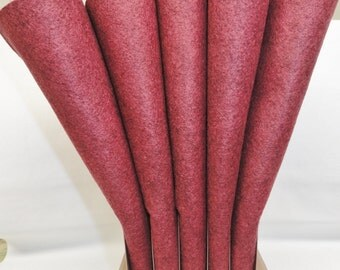Wool Felt - Wool Sheets - Victorian Rose Wool Felt - Merino Blend Wool Felt - Craft Felt - 12 X 18