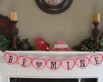 Be Mine HEART Shape Banner #8 - Valentines Day